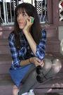 Black-metal-mulisha-t-shirt-blue-walmart-shirt-blue-forever-21-skirt-gray-