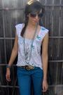 White-fox-riders-co-top-blue-anchor-blue-jeans-blue-walmart-necklace-silve
