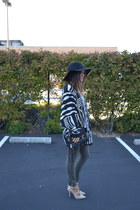 Nordstrom Rack sweater - Kaitlin Boutique hat - studded t-strap Lulus heels