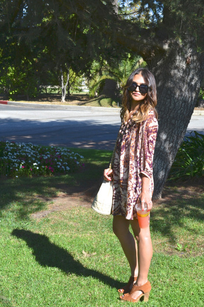 shift dress H&M dress - Chanel bag - H&M sandals
