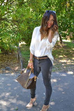speedy 30 Louis Vuitton bag - black skinny Jessica Simpson pants