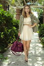 Green-old-navy-jacket-pink-h-m-dress-pink-old-navy-bag-brown-nine-west-sho