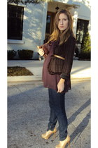 BCBG jacket - To The Max top - Miss Sixty jeans - SM New York shoes