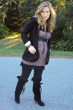 Sweet P dress - Marshalls leggings - Bakers boots