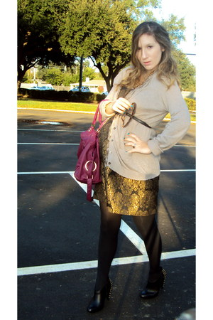Michael Kors dress - Steve Madden boots - Forever21 necklace - Old Navy sweater