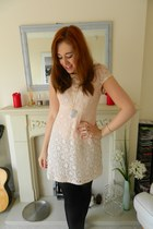 peach Maggie & Me  Miinto dress - white Megan Jane Jewellery necklace
