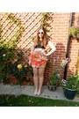 Nude-cats-eye-zara-sunglasses-black-crop-primark-top-red-peplum-mina-skirt