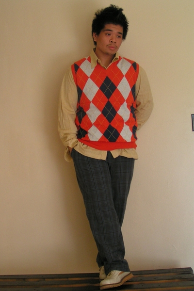 Ralph Lauren vest - Express shirt - volcom pants - Dr Martens shoes