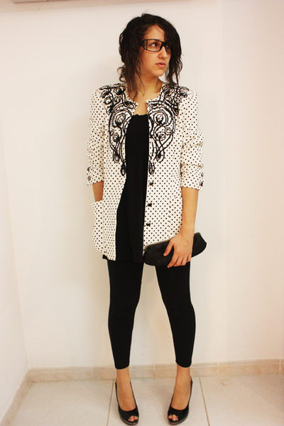 blazer - leggings - shoes