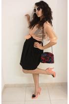 calvin klein shirt - H&M skirt - stuart weitzman accessories - vivienne westwood