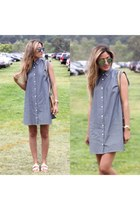 sky blue dress - light blue sunglasses