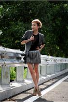light pink Aldo heels - heather gray Topman blazer