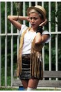 White-pagoda-eagle-top-brown-vero-moda-vest-heather-gray-ticfleamarket-skirt