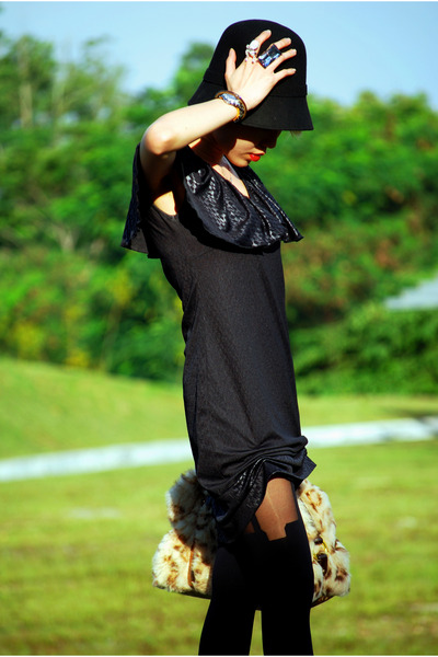 black Fourskin-SG hat - black Dude&Dutchess dress - black House of Holland stock