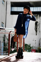 black 6 heels SellingOnMyBlog shoes - black black slip cotton on dress - gold st