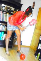 Bershka blazer - H&M accessories - Bershka skirt - ANDRE shoes