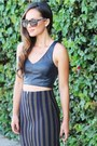 Crop-top-zara-top-reptile-clutch-dailylook-bag-zara-skirt