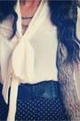 White-loose-blouse-forever-21-shirt-black-wide-brim-nasty-gal-hat