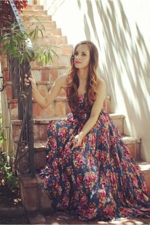 navy floral maxi Zimmerman dress