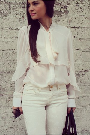 eggshell juliette blouse MinkPink top - black Dailylook bag