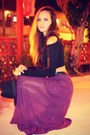 Black-nasty-gal-top-deep-purple-maxi-forever-21-skirt