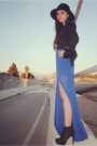 Spiked-lush-clothing-blazer-slit-maxi-lush-clothing-skirt