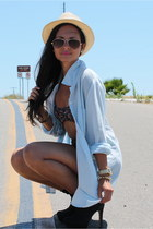 black black Vince Camuto boots - cream Forever 21 hat