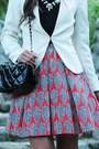 Ruby-red-printed-macys-skirt-cream-h-m-blazer