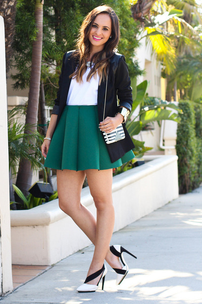 black Target bag - black black and white GX by Gwen Stefani heels
