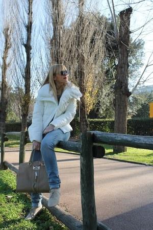 Elisabetta Franchi bag - Gsel coat - H&M jeans - Bershka sweater