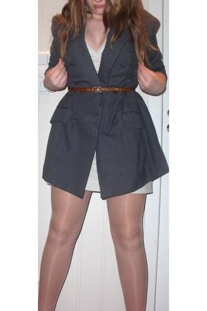 blazer - dress - belt - shoes