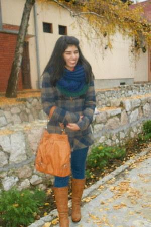 checked Orsay coat