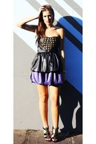 black missmolly fashions dress - black Aldo shoes - purple