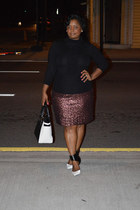 sequin ny & co skirt - ro rock and republic heels