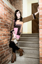 pink m missoni dress - brown Miu Miu boots - brown Dior Beauty Special Edition p