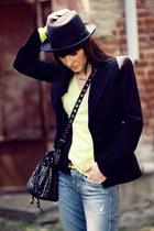 blue jacob cohen jeans - black Borsalino hat - black Dolce&Gabbana blazer - blac