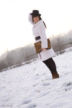 white annabella coat - camel Christian Louboutin boots - camel Zara bag - black