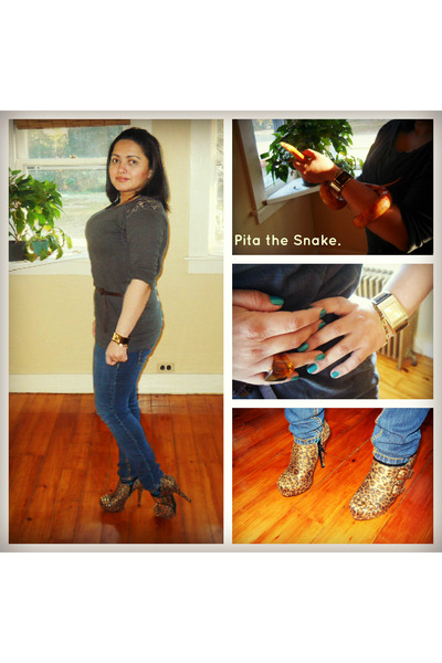 TJ Maxx shoes - Forever21 jeans - Forever 21 top