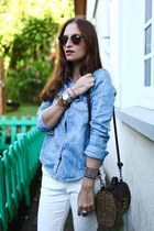 H&M blouse - Mango pants