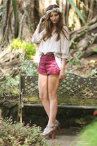MinkPink shorts - Jeffrey Campbell shoes - H&M blouse