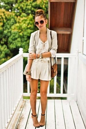 Zara heels - romwe shorts