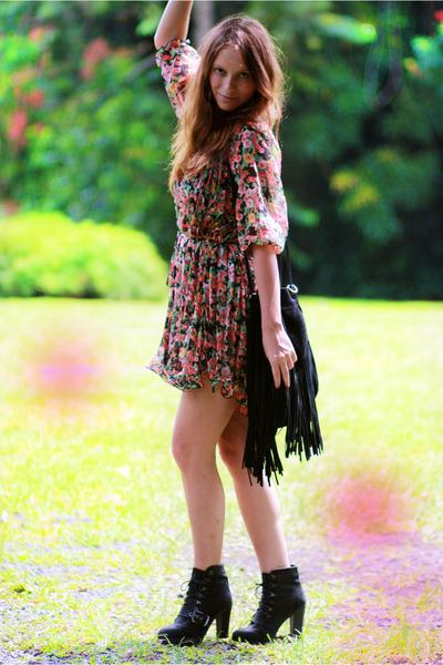 Nasty Gal dress - Zara boots - Topshop bag