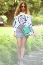 asos boots - H&M skirt - Topshop jumper