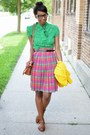 Brown-til-darling-purse-yellow-vintage-cardigan