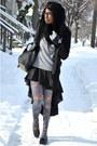 Blue-floral-modcloth-tights-black-infinity-urbanog-scarf-black-vj-style-bag