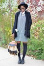 Black-urbanog-boots-dark-green-plaid-pinafore-vintage-dress