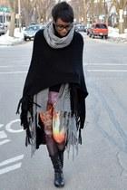 black Bamboo boots - light purple romwe galaxy thrifted leggings