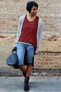 Black-urbanog-boots-black-vj-style-bag-light-blue-bermuda-thrifted-shorts