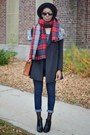 Black-glossy-ankle-urbanog-boots-black-jollychic-coat-brick-red-oasap-scarf