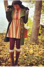 Brown-urbanog-boots-burnt-orange-multi-color-foliage-tour-dress